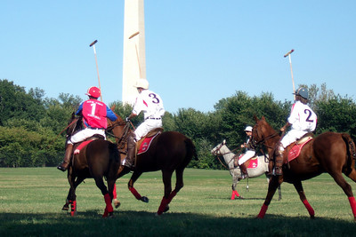 The weather was beautiful, so we spent the afternoon at West Potomac Park on the National Mall watching the 2009 America's Polo Cup Fall Classic matches between the U.S. Polo Team, American/India Pro-Am Team and the Washington Patriots. (Image taken by Sydney J. Kane on 19 Sep 2009 with FinePix F10 at ISO 100, f5.0, 1/419 sec and 24mm)