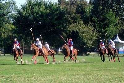 The weather was beautiful, so we spent the afternoon at West Potomac Park on the National Mall watching the 2009 America's Polo Cup Fall Classic matches between the U.S. Polo Team, American/India Pro-Am Team and the Washington Patriots. (Image taken by Sydney J. Kane on 19 Sep 2009 with FinePix F10 at ISO 200, f5.0, 1/419 sec and 24mm)