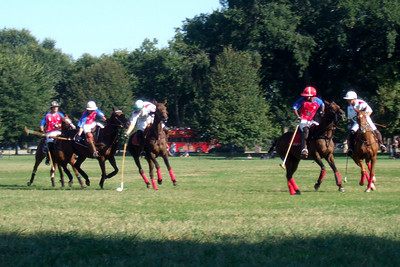 The weather was beautiful, so we spent the afternoon at West Potomac Park on the National Mall watching the 2009 America's Polo Cup Fall Classic matches between the U.S. Polo Team, American/India Pro-Am Team and the Washington Patriots. (Image taken by Sydney J. Kane on 19 Sep 2009 with FinePix F10 at ISO 100, f5.0, 1/220 sec and 24mm)