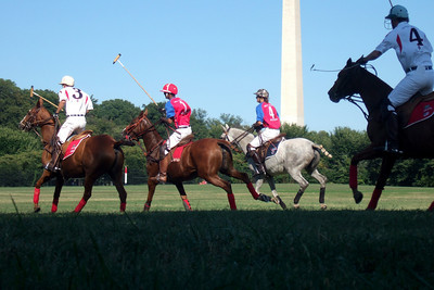 The weather was beautiful, so we spent the afternoon at West Potomac Park on the National Mall watching the 2009 America's Polo Cup Fall Classic matches between the U.S. Polo Team, American/India Pro-Am Team and the Washington Patriots. (Image taken by Sydney J. Kane on 19 Sep 2009 with FinePix F10 at ISO 100, f5.0, 1/450 sec and 24mm)