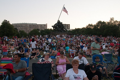 A pretty big crowd turned out to watch the 4th of July fireworks from the Marine Corps War Memorial in Arlington. (Image taken by Patrick R. Kane on 04 Jul 2010 with Canon EOS 20D at ISO 400, f5.6, 1/125 sec and 17mm)