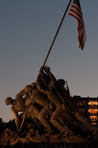 Marine Corps War Memorial in Arlington (Image taken by Patrick R. Kane on 04 Jul 2010 with Canon EOS 20D at ISO 200, f11.0, 1/1 sec and 85mm)