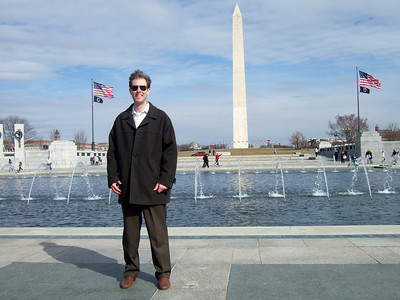 Chris Giacomazzi at the National World War II Memorial (05 Mar 2010) (Image taken by Patrick R. Kane on 05 Mar 2010 with FinePix F10 at ISO 80, f5.0, 1/550 sec and 8mm)