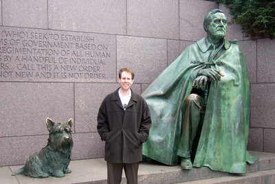 Chris Giacomazzi at the Franklin Delano Roosevelt Memorial (05 Mar 2010) (Image taken by Patrick R. Kane on 05 Mar 2010 with FinePix F10 at ISO 200, f2.8, 1/419 sec and 8mm)