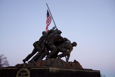 Marine Corps War Memorial (06 Mar 2010) (Image taken by Patrick R. Kane on 06 Mar 2010 with FinePix F10 at ISO 800, f2.8, 1/85 sec and 8mm)