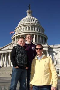 Christopher and Sydney Kane with Chris Giacomazzi outside the East Front of the U.S. Capitol (06 Mar 2010) (Image taken by Patrick R. Kane on 06 Mar 2010 with FinePix F10 at ISO 200, f7.1, 1/800 sec and 8mm)