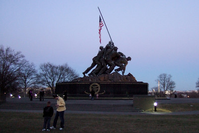 Marine Corps War Memorial (06 Mar 2010) (Image taken by Patrick R. Kane on 06 Mar 2010 with FinePix F10 at ISO 800, f2.8, 1/56 sec and 8mm)