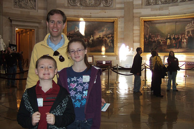 Chris Giacomazzi with Christopher and Sydney Kane in the U.S. Capitol (06 Mar 2010) (Image taken by Patrick R. Kane on 06 Mar 2010 with FinePix F10 at ISO 400, f2.8, 1/100 sec and 8mm)