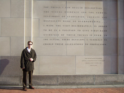 Chris Giacomazzi outside the U.S. Holocaust Memorial Museum (05 Mar 2010) (Image taken by Patrick R. Kane on 05 Mar 2010 with FinePix F10 at ISO 80, f2.8, 1/419 sec and 8mm)