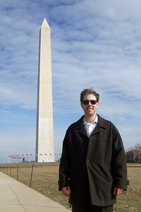 Chris Giacomazzi in front of the Washington Monument (05 Mar 2010) (Image taken by Patrick R. Kane on 05 Mar 2010 with FinePix F10 at ISO 80, f5.0, 1/600 sec and 8mm)