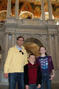 Chris Giacomazzi with Sydney and Christopher Kane in the Library of Congress (06 Mar 2010) (Image taken by Patrick R. Kane on 06 Mar 2010 with FinePix F10 at ISO 800, f2.8, 1/100 sec and 8mm)