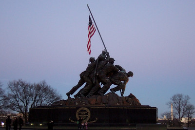 Marine Corps War Memorial (06 Mar 2010) (Image taken by Patrick R. Kane on 06 Mar 2010 with FinePix F10 at ISO 800, f3.4, 1/40 sec and 12.2mm)