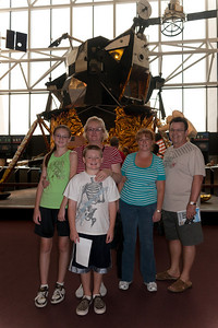 Sydney, Christopher and Kathy Kane showing the National Air and Space Museum to Kathy's sister, Gale, and brother-in-law, Ivan Milic. (Image taken by Patrick R. Kane on 28 Aug 2010 with Canon EOS 20D at ISO 200, f4.0, 1/60 sec and 17mm)
