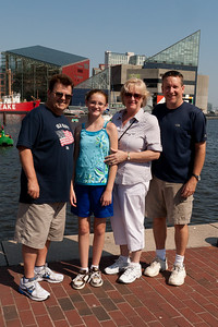 Ivan and Gale Milic with Sydney and Patrick Kane in Baltimore's Inner Harbor (Image taken by Patrick R. Kane on 29 Aug 2010 with Canon EOS 20D at ISO 200, f13.0, 1/500 sec and 23mm)