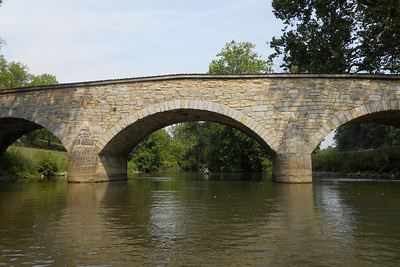 The historic Burnside Bridge, built in 1836, played a key role in the Battle of Antietam on September 17, 1862, when a small number of Confederate soldiers held off repeated attempts by the Union Army to take the bridge by force. This Battle remains the bloodiest single-day battle in American history. (Image taken by Patrick R. Kane on 21 Aug 2010 with COOLPIX S570 at ISO 80, f5.4, 1/320 sec and 5mm)