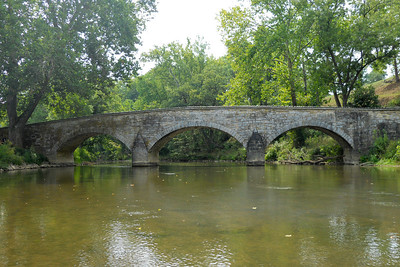 The historic Burnside Bridge, built in 1836, played a key role in the Battle of Antietam on September 17, 1862, when a small number of Confederate soldiers held off repeated attempts by the Union Army to take the bridge by force. This Battle remains the bloodiest single-day battle in American history. (Image taken by Patrick R. Kane on 21 Aug 2010 with COOLPIX S570 at ISO 80, f2.8, 1/400 sec and 5.7mm)