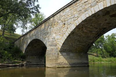 The historic Burnside Bridge, built in 1836, played a key role in the Battle of Antietam on September 17, 1862, when a small number of Confederate soldiers held off repeated attempts by the Union Army to take the bridge by force. This Battle remains the bloodiest single-day battle in American history. (Image taken by Patrick R. Kane on 21 Aug 2010 with COOLPIX S570 at ISO 80, f2.7, 1/800 sec and 5mm)