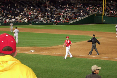 The Kinhaven School teachers and staff enjoyed a trip to the ball park to watch the Washington Nationals play the Florida Marlins. Unfortunately, the Nats lost 1 to 3; however, that didn't stop everyone from having a great time. (Image taken by Kathy T. Kane on 10 Sep 2010 with FinePix F10 at ISO 800, f5.0, 1/150 sec and 24mm)