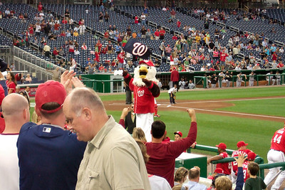 The Kinhaven School teachers and staff enjoyed a trip to the ball park to watch the Washington Nationals play the Florida Marlins. Unfortunately, the Nats lost 1 to 3; however, that didn't stop everyone from having a great time. (Image taken by Kathy T. Kane on 10 Sep 2010 with FinePix F10 at ISO 800, f5.0, 1/170 sec and 24mm)