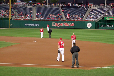 The Kinhaven School teachers and staff enjoyed a trip to the ball park to watch the Washington Nationals play the Florida Marlins. Unfortunately, the Nats lost 1 to 3; however, that didn't stop everyone from having a great time. (Image taken by Kathy T. Kane on 10 Sep 2010 with FinePix F10 at ISO 800, f5.0, 1/209 sec and 24mm)