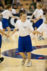 The Taylor Elementary School's 5th Grade Dance Team performs during half-time at the Georgetown Hoyas and Missouri State University Lady Bears women's basketball game. The Hoyas won 72-59, improving to 9-3 on the season. (Image taken by Patrick R. Kane on 19 Dec 2010 with Canon EOS-1D Mark III at ISO 2000, f2.8, 1/400 sec and 160mm)