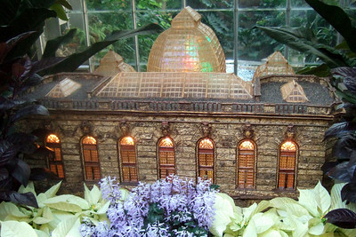 Model of U.S. Botanic Garden created from natural materials. On display at the U.S. Botanic Garden. (Image taken by Sydney J. Kane on 28 Nov 2010 with FinePix F10 at ISO 800, f2.8, 1/42 sec and 8mm)