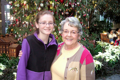 Sydney with her grandmother, Mary Clare, at the U.S. Botanic Garden(Image taken by Patrick R. Kane on 28 Nov 2010 with FinePix F10 at ISO 800, f2.8, 1/100 sec and 8mm)