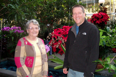 Mary Clare with her son, Patrick, at the U.S. Botanic Garden (Image taken by Sydney J. Kane on 28 Nov 2010 with FinePix F10 at ISO 800, f2.8, 1/100 sec and 8mm)