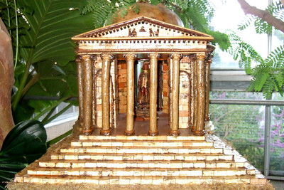 Model of Jefferson Memorial created from natural materials. On display at the U.S. Botanic Garden. (Image taken by Sydney J. Kane on 28 Nov 2010 with FinePix F10 at ISO 800, f2.8, 1/100 sec and 8mm)