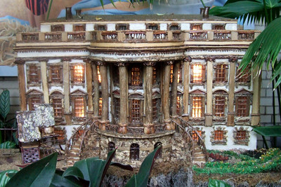 Model of White House created from natural materials. On display at the U.S. Botanic Garden. (Image taken by Sydney J. Kane on 28 Nov 2010 with FinePix F10 at ISO 800, f2.8, 1/52 sec and 8mm)