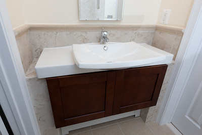 The vanity in the new 1st floor bath. (Image taken by Patrick R. Kane on 21 Aug 2011 with Canon EOS-1D Mark III at ISO 200, f8.0, 1/60 sec and 16mm)