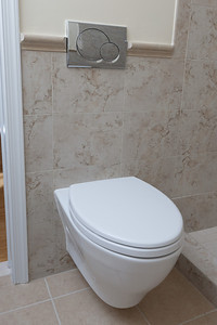A Toto wall-hung toilet. (Image taken by Patrick R. Kane on 21 Aug 2011 with Canon EOS-1D Mark III at ISO 200, f8.0, 1/60 sec and 22mm)