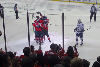 #90 Marcus Johansson scores at 09:21 in the 3rd to pull within one of the Canucks. As a Christmas gift, Kathy gave Patrick and Christopher a couple of great tickets (Sec 103, Row J, Seats 9 & 10) to the Washington Capitals vs. Vancouver Canucks game. The boys had a great time even though the Caps didn't win. (Image taken by Patrick R. Kane on 14 Jan 2011 with COOLPIX S570 at ISO 250, f3.0, 1/250 sec and 6.4mm)