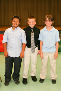 Braden, Christopher and Woody at the Taylor 5th Grade Graduation Ceremony (Image taken by Kathy T. Kane on 22 Jun 2011 with Canon EOS 20D at ISO 400, f4.0, 1/60 sec and 23mm)
