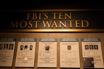 FBI's Ten Most Wanted List at the National Museum of Crime & Punishment (Image taken by Patrick R. Kane on 24 Sep 2011 with Canon EOS-1D Mark III at ISO 1600, f4.5, 1/80 sec and 25mm)