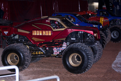 Iron Man, Full Boar, Crushstation and Illuminator. Monster Jam at the Verizon Center (Image taken by Patrick R. Kane on 29 Jan 2011 with Canon EOS-1D Mark III at ISO 400, f2.8, 1/250 sec and 70mm)