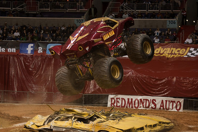 Iron Man. Monster Jam at the Verizon Center (Image taken by Patrick R. Kane on 29 Jan 2011 with Canon EOS-1D Mark III at ISO 400, f2.8, 1/250 sec and 110mm)