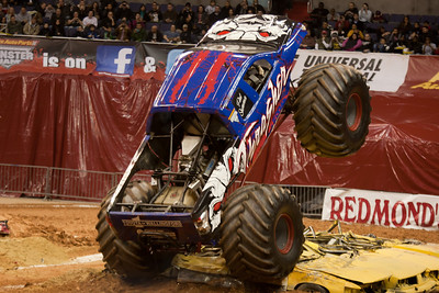 Thrasher. Monster Jam at the Verizon Center (Image taken by Patrick R. Kane on 29 Jan 2011 with Canon EOS-1D Mark III at ISO 800, f2.8, 1/250 sec and 130mm)