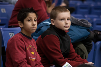 Nick and Christopher of the Taylor Elementary School's 5th Grade Dance Team, who came to perform during half-time at the American University and Holy Cross women's basketball game. The dancers did a great job, as did the Eagles, who beat the Crusaders 84 to 53. (Image taken by Patrick R. Kane on 22 Jan 2011 with Canon EOS-1D Mark III at ISO 1600, f2.8, 1/320 sec and 145mm)