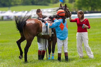 Jordan (1), a large pony ridden by Erin Swope ran with the horses and finished 2nd overall in the Junior Field Masters Chase. The 86th running of the Virginia Gold Cup steeplechase race at Great Meadow in The Plains, Virginia (Image taken by Patrick R. Kane on 07 May 2011 with Canon EOS-1D Mark II at ISO 100, f2.8, 1/1250 sec and 200mm)