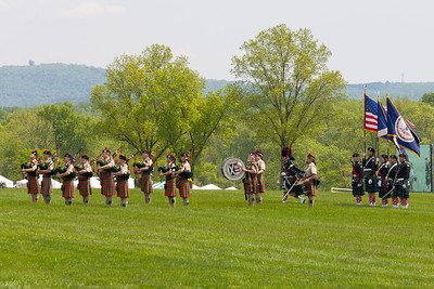 The Color Guard was presented by St. Andrew's Society Pipes and Drums Band. The 86th running of the Virginia Gold Cup steeplechase race at Great Meadow in The Plains, Virginia (Image taken by Patrick R. Kane on 07 May 2011 with Canon EOS-1D Mark II at ISO 100, f11.0, 1/100 sec and 195mm)