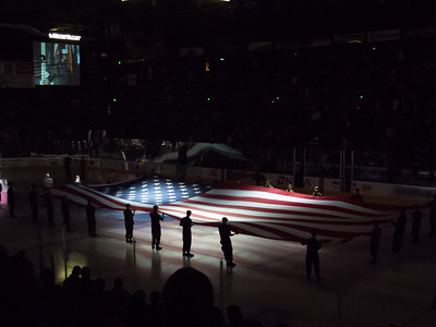 Military Appreciation Night. The Colorado Eagles beat the Utah Grizzlies 10-1 in ECHL hockey (Image taken by Patrick R. Kane on 07 Nov 2012 with Canon PowerShot G12 at ISO 0, f3.2, 1/6 sec and 9.8mm)