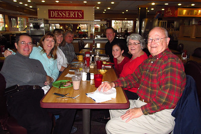 John, Tracy, Deb, Lee, Pat, Rachel, Mary Clare and Grady enjoying breakfast at the Country Buffet. (Image taken on 04 Nov 2012 with Canon PowerShot G12 at ISO 0, f2.8, 1/60 sec and 6.1mm)
