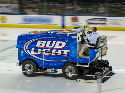 Zamboni finishing the ice before the game. The Colorado Eagles beat the Utah Grizzlies 10-1 in ECHL hockey (Image taken by Patrick R. Kane on 07 Nov 2012 with Canon PowerShot G12 at ISO 0, f4.0, 1/20 sec and 21.5mm)