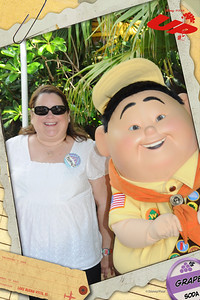Aunt KK and Russell at Disney's Animal Kingdom on 28 May 2012