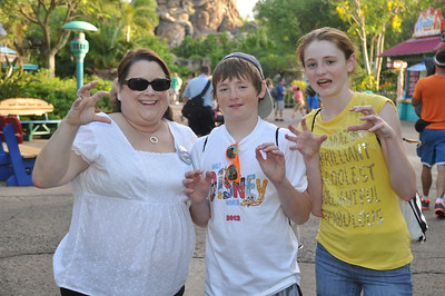 Aunt KK with Christopher and Sydney at Disney's Animal Kingdom on 28 May 2012