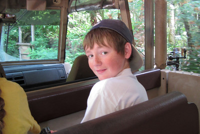 Christopher enjoying the Kilimanjaro Safaris Expedition at Disney's Animal Kingdom (Image taken by Kathy L. Kane on 28 May 2012 with Canon PowerShot ELPH 100 HS at ISO 0, f2.8, 1/50 sec and 5mm)