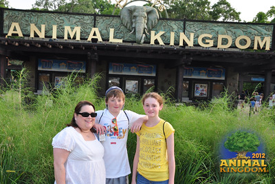 Aunt KK celebrating her 50th birthday with Christopher and Sydney at Disney's Animal Kingdom on 28 May 2012
