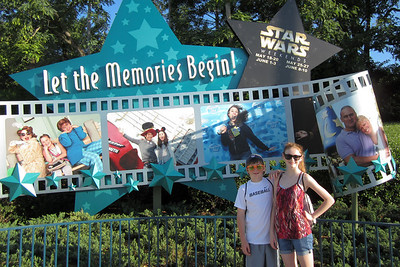 Christopher and Sydney at Disney's Hollywood Studios (Image taken by Kathy L. Kane on 26 May 2012 with Canon PowerShot ELPH 100 HS at ISO 0, f2.8, 1/640 sec and 5mm)