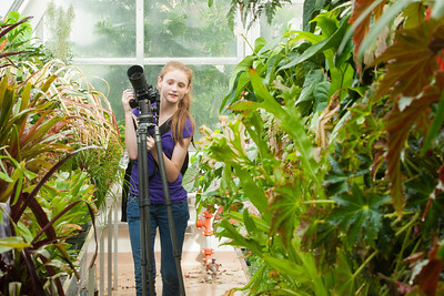 Sydney getting ready to take more pictures in the greenhouse at Hillwood Estate, Museum & Gardens (Image taken by Patrick R. Kane on 29 Sep 2012 with Canon EOS-1D Mark III at ISO 400, f10.0, 1/40 sec and 70mm)